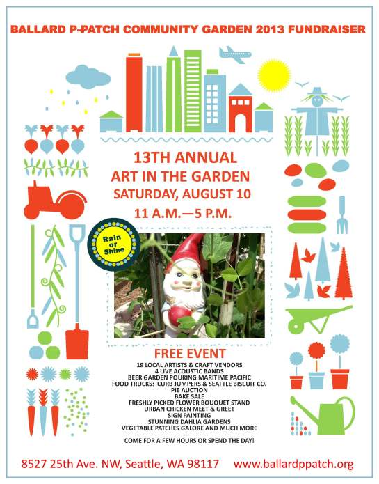 Art in the Garden Event in Ballard Aug 10