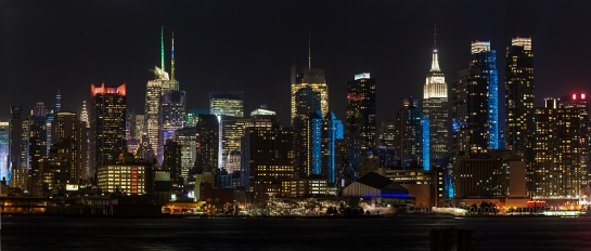 NYC Cityscape in Blue