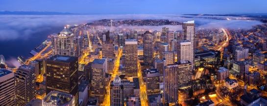 Seattle Sunrise Fog