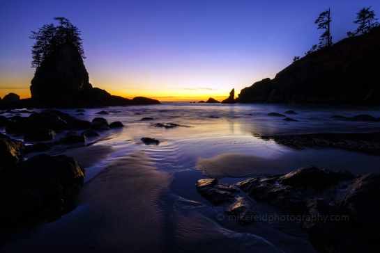 Second Beach Blue Hour Low Tides