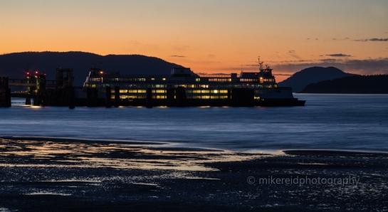 Anacortes San Juan Islands Ferry Sunset