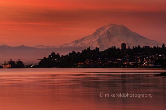 Mount Rainier Sunrise from Tacoma