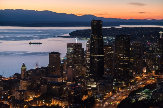 aerial photography over seattle zeiss 85mm otus