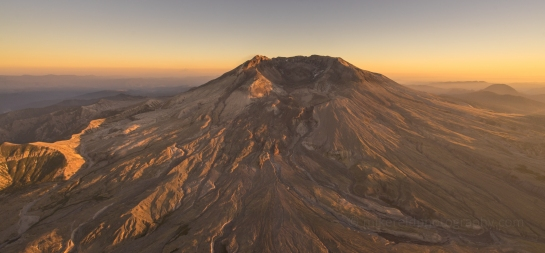 aerial mount st helens washington