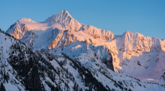 Mount Shuksan Alpenglow Zeiss 85mm Otus