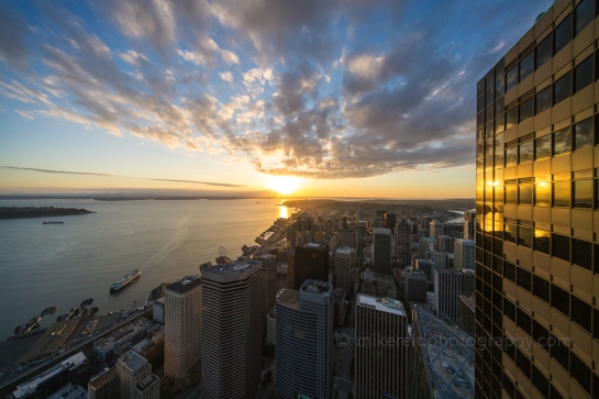 Seattle Sunset from Sky View Observatory