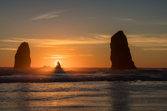 cannon beach sunset sunset