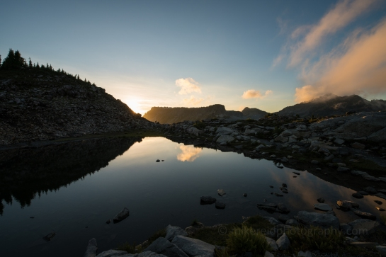 Table Mountain Dusk Light in a Small Tarn