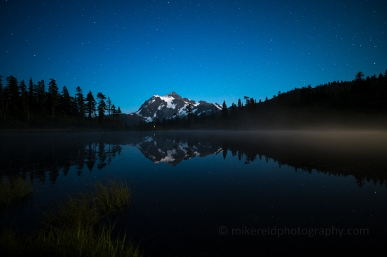 Mount Shuksan and Night Mist