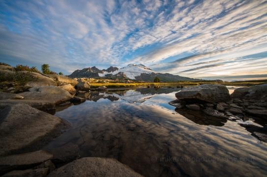 Park Butte Mount Baker Reflection Sunrise