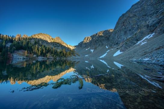 Blue Lake Fall Colors Reflection