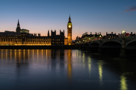 Thames Sunset Big Ben Reflection Zeiss 28mm Otus