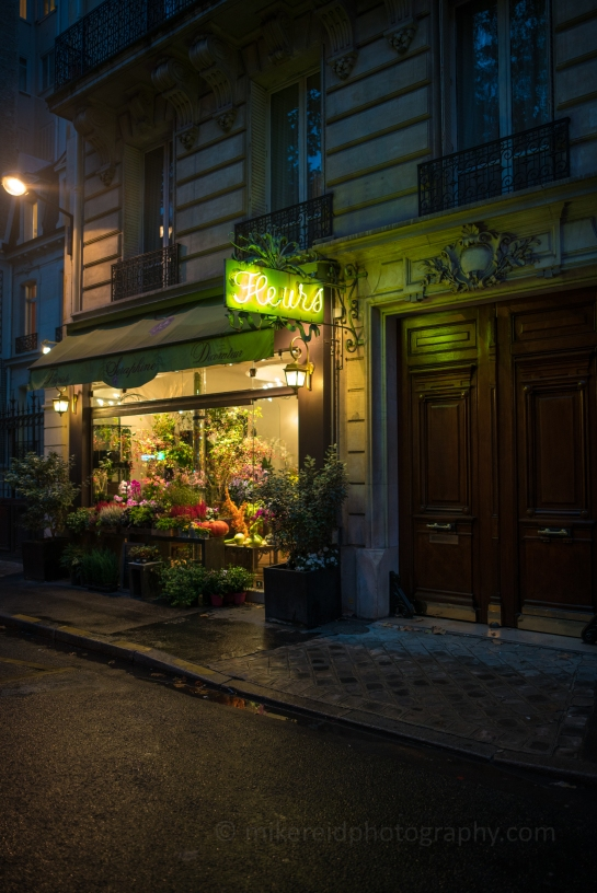 Paris Dusk Flower Shop Zeiss 28mm Otus