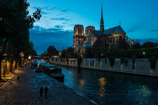 Paris Dusk Notre Dame and the Seine Zeiss 28mm Otus