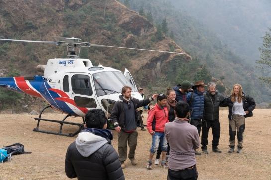 trekking nepal, himalayas, helicopter, lukla