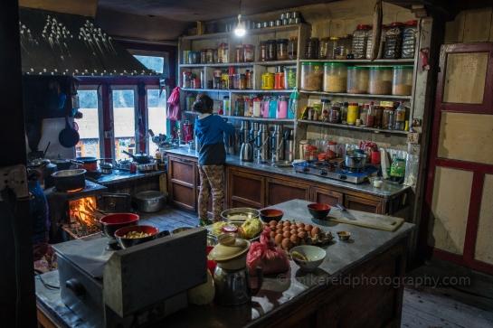 nepal, trekking, everest base camp, kitchen, teahouse, phakding