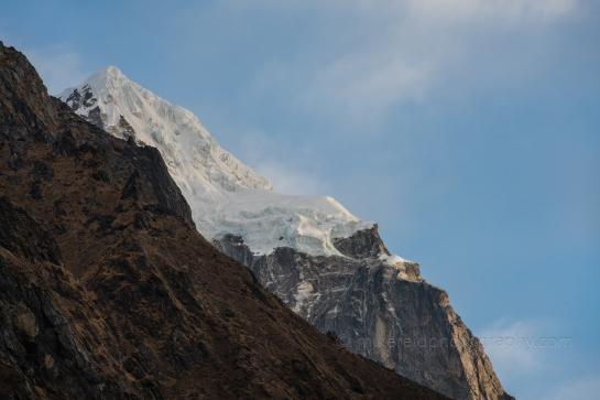 Tip of tabuche Peak Just After Sunrise From Tengboche Everst Base Camp Trek