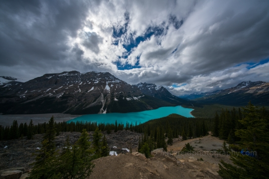 Peyto Lake 10mm Cloudscape