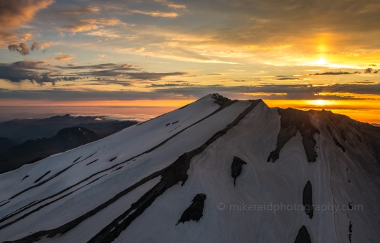 Sunset Skies Above Mount St Helens from the Air