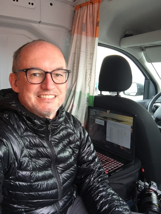 iceland roadtrip van laptop