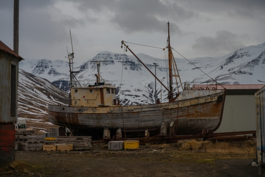 Iceland Older Fishing Boat