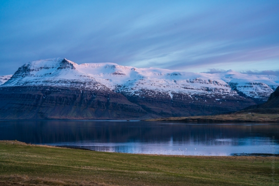 Iceland EastFjords Snow Capped Peaks Ring Road