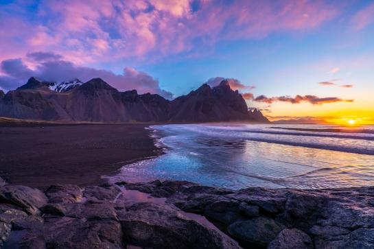 Iceland Stokksnes Beach Sunrise
