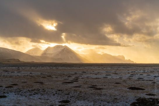 Iceland Ring Road Hailstorm Sunrays