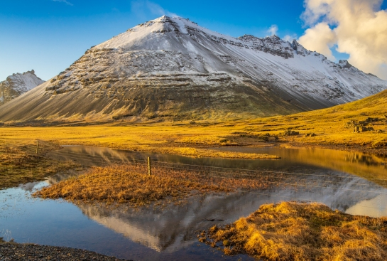 Iceland Ring Road Morning Golden Light On Dusted Peaks Zeiss 28mm Otus and Sony A7R2