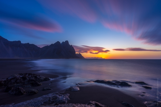 Iceland Stokksnes Sunrise Sony a7r Smooth Reflection app