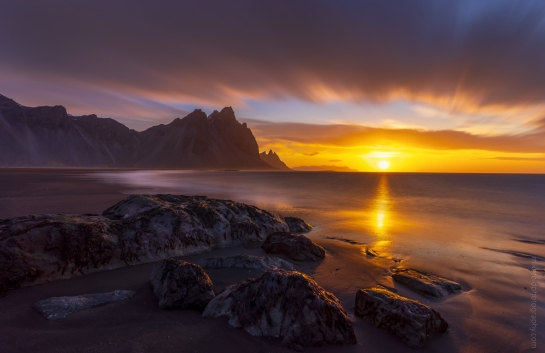 Iceland Stokksnes Sunrise Sony a7r Smooth Reflection app