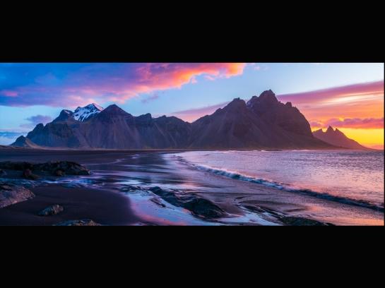 Iceland Stokksnes Sunrise Pano Zeiss 28mm Otus
