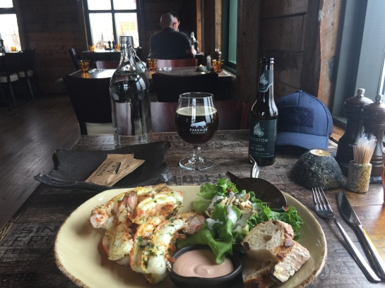 Iceland Pakkhus Hofn Lobster Langoustine Feast beer food travel