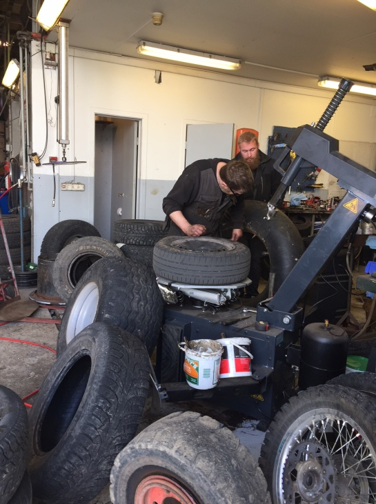 Iceland Hofn Tire Repair