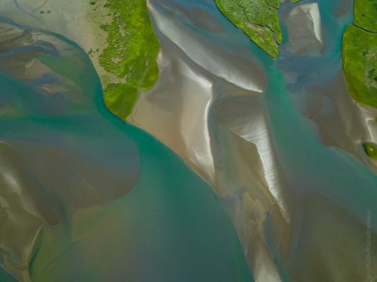 Tideflats Colors and Patterns Aerial Photography DJI Mavic Pro