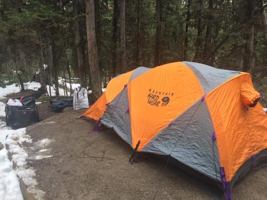 My Mountain Hardwear Trango Assault tent at Lake O'Hara