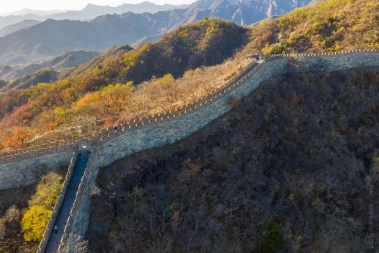 DJI Mavic Pro 2 Drone Photography Great Wall Mutianyu Section Fall Colors