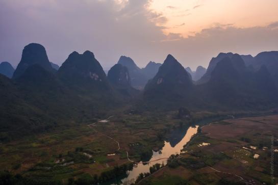 DJI Mavic Pro 2 Drone Photography Yangshuo China Sunset