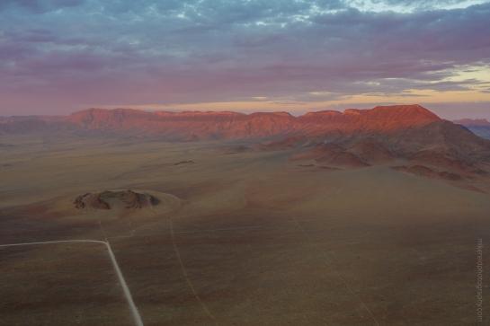 Sossusvlei Sunset Ridge Across a Desert Landscape DJI Mavic Pro 2 Drone
