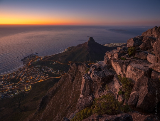 Lions Head from Table Mountain Cape Town Fuji GFX50s