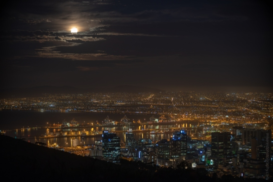 Full Moon Over Cape Town Fuji GFX50s