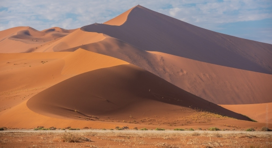 People Climbing Big Daddy Dune in Sossusvlei Namibia
