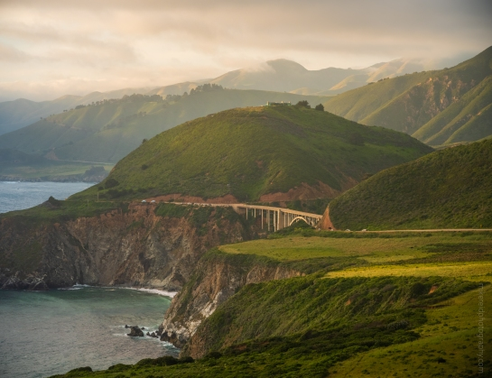 Bixby Bridge and Highway 1 in Big Sur California - Zeiss 100-300mm on Fuji GFX50s