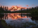 Mount Shuksan Picture Lake North Cascades Sunset Fuji GFX50s and GF23mm Lens