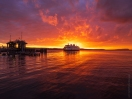 Mukilteo Ferry Fiery Sunset Fuji GFX50s and GF23mm Lens