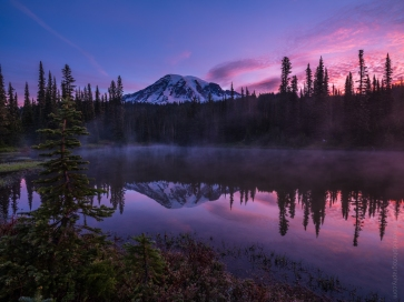 Mount Rainier Reflection Lakes Sunrise GFX50s and GF23mm Lens