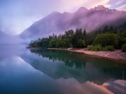 Diablo Lake Fog Sunset Fuji GFX50s and GF23mm Lens