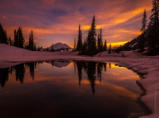 Mount Rainier Lake Tipsoo Thawing Sunset Fuji GFX50s and GF23mm Lens