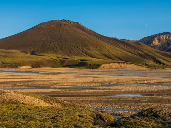 Landmannlaugar Iceland Half Moon Rising Fuji GFX50s