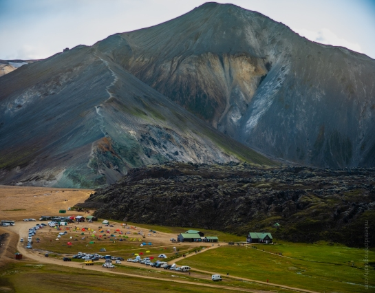 Landmannalaugar Iceland Blue Mountain and Campground Fuji GFX50s